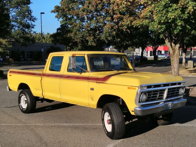 1975 ford f250 4x4 crew cab highboy excellent condition 80k worldwide reserve. Black Bedroom Furniture Sets. Home Design Ideas