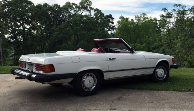 1975 mercedes benz 450sl roadster in white red for 1975 mercedes benz 450sl convertible