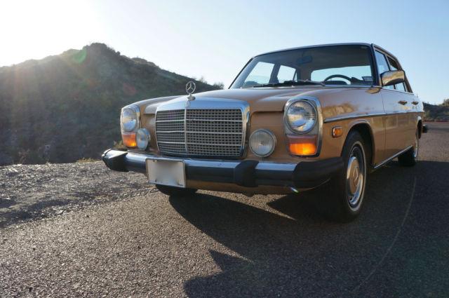 1976 mercedes w115 diesel 240d all original paint for Mercedes benz 240 diesel
