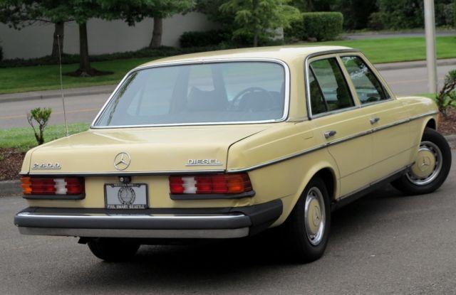 1977 Mercedes 240d Clean Great Driving Diesel Sedan