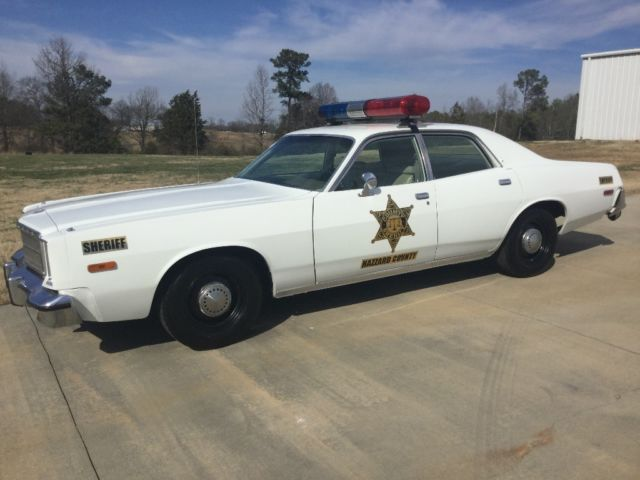 1977 plymouth fury rosco p coltrane police car from the dukes of hazzard. Black Bedroom Furniture Sets. Home Design Ideas