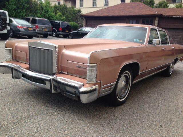 1978 lincoln continental town car 77k all original. Black Bedroom Furniture Sets. Home Design Ideas