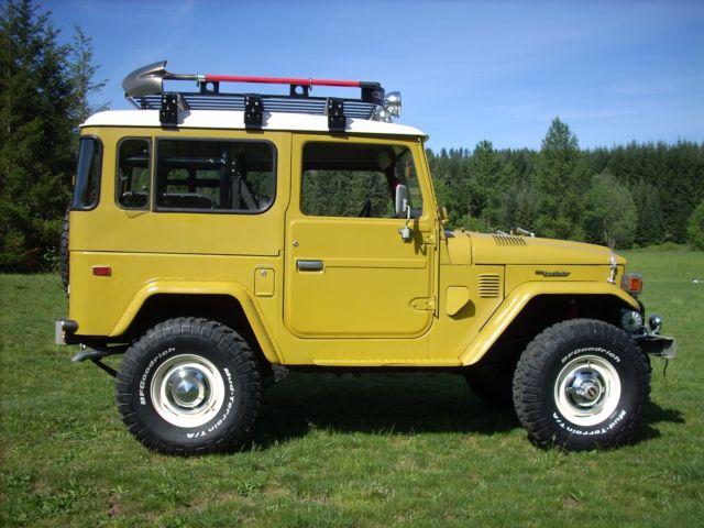 1978 toyota landcruiser fj40 original mustard toyota   532 paint 72885 miles