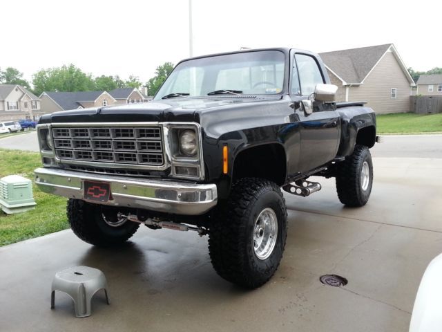 1979 chevy stepside step side truck pickup 4x4 4 wheel drive classic. Black Bedroom Furniture Sets. Home Design Ideas