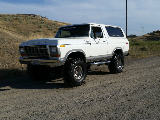 F150 Custom Wheels >> 1979 Ford Bronco f150 Ranger XLT 4x4 lifted with pearl in the paint a must see