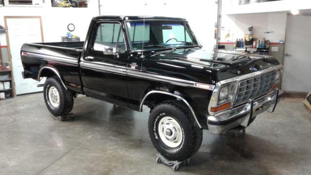 1979 Ford F150 4x4 SWB Ranger Raven Black 400 AT PS PB ...