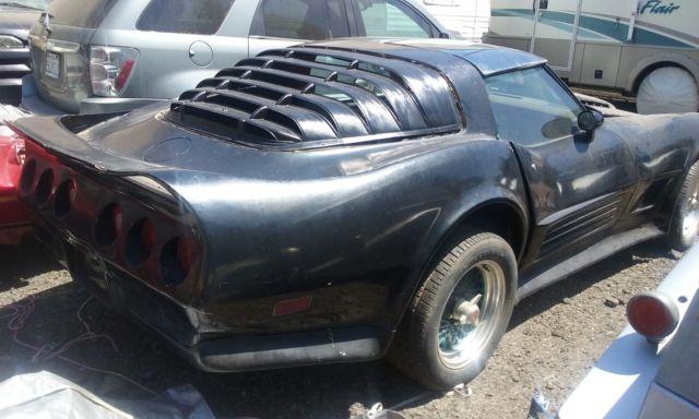 1980 Black Corvette Stingray Project Car