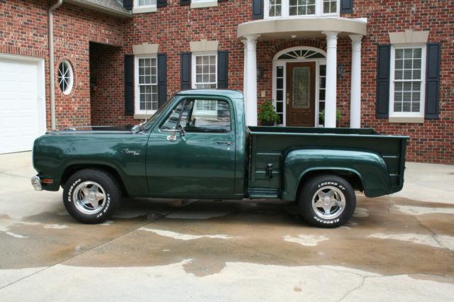 1980 Dodge Custom 440 Step Side Swb Pick Up Truck W 440
