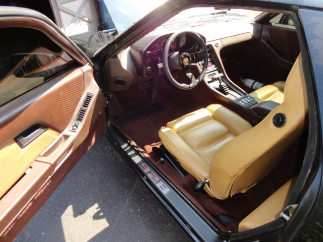 1981 porsche 928 black w champagne and brown interior. Black Bedroom Furniture Sets. Home Design Ideas