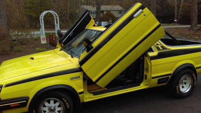 1982 subaru brat   yellow