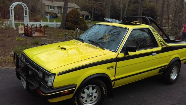 1982 subaru brat   yellow