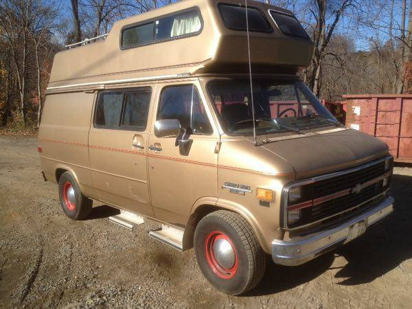1983 Chevy G20 Camper High Top Conversion Van New Jersey Pa