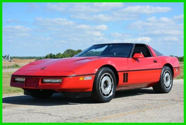 1984 chevy corvette red t tops clean no reserve. Black Bedroom Furniture Sets. Home Design Ideas