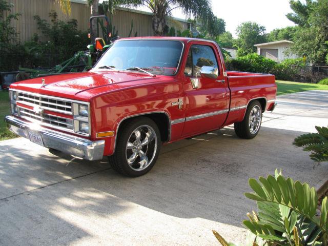 Houston Chevy Dealers >> 1985 Chevrolet c10 silverado shortbed v8 all power custom wheels NICE!!