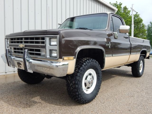 1985 chevrolet k20 silverado 350 v 8 4x4 lifted rust free truck. Black Bedroom Furniture Sets. Home Design Ideas