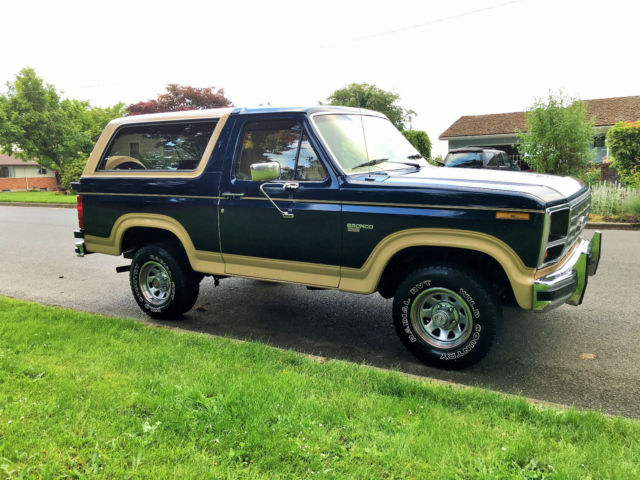 Ford Bronco Eddie Bauer X on Ford Vin Paint Code