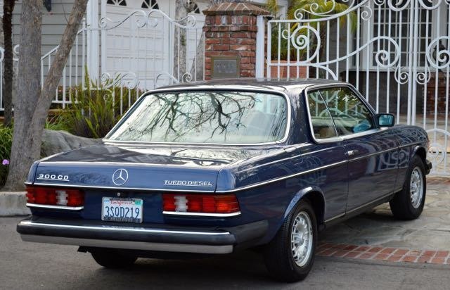 1985 mercedes 300cd turbo diesel coupe gorgeous blue with for Mercedes benz c123 for sale