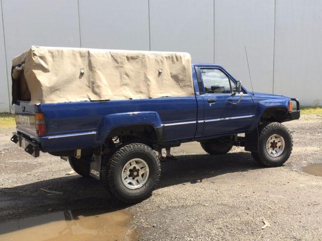 1985 Toyota Ln65 Hilux Turbo Diesel 4x4 Truck Long Bed