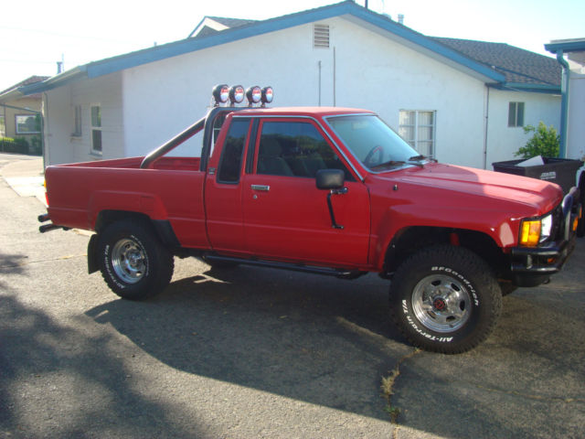 1985 Toyota Pickup Extra Cab Sr5 Efi 4x4 Deluxe Quot Back To