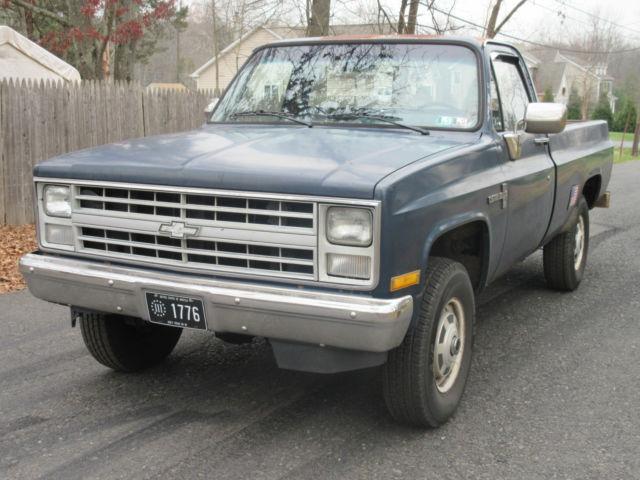 1986 chevy k20 4x4 truck 350 v8 3 4 ton 4wd very original custom deluxe. Black Bedroom Furniture Sets. Home Design Ideas