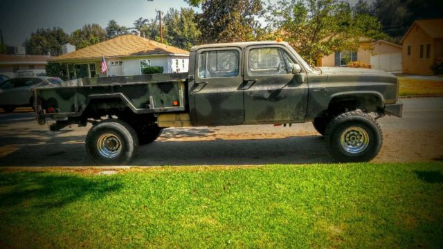 1986 chevy k30 crew cab 4x4 square body truck. Black Bedroom Furniture Sets. Home Design Ideas