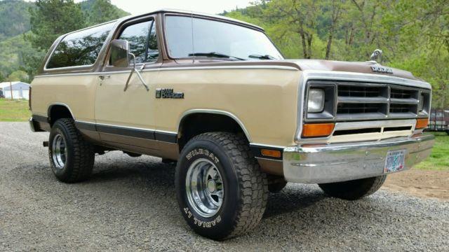 1986 Dodge Ram Charger 150 Royal Se 4wd Low Miles 360 V8 L  K