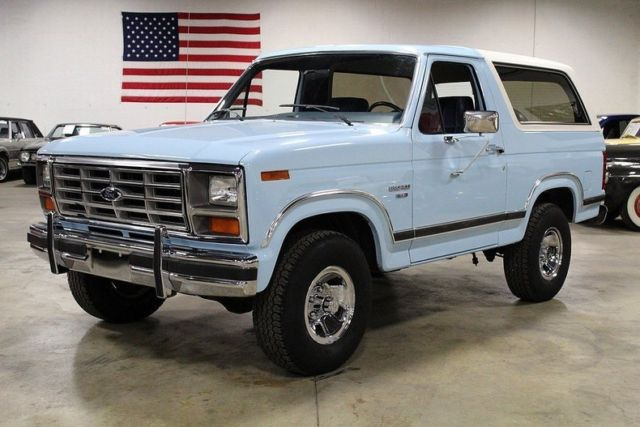 1986 ford bronco 80643 miles light blue suv 302ci v8 4 speed automatic. Black Bedroom Furniture Sets. Home Design Ideas