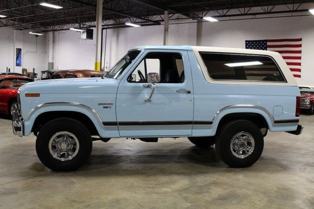 Local Car Auctions >> 1986 Ford Bronco 80643 Miles Light Blue SUV 302ci V8 4 Speed Automatic