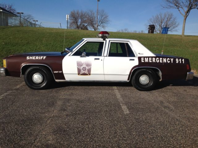 Ex Police Car Auctions >> 1986 Ford LTD Crown Vic Vintage Police Car