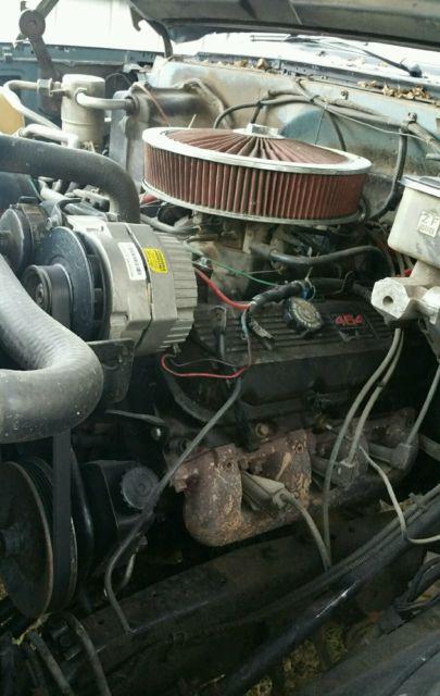 gmc square 4x4 454 block 1986 sierra 2500 lifted engine pickup location