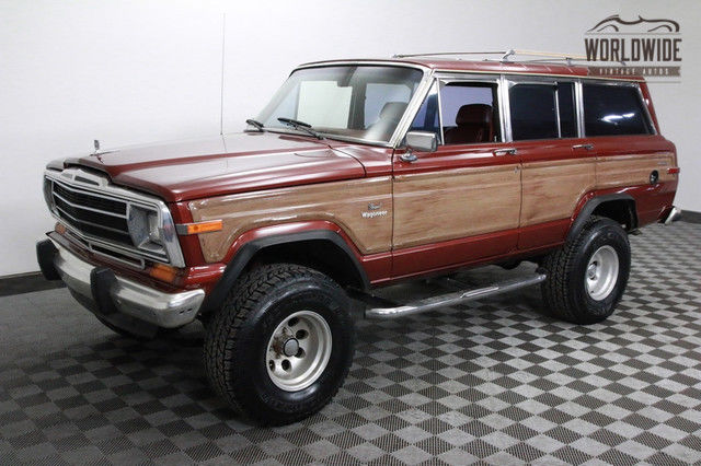1986 jeep grand wagoneer lifted with crate 360 v8 and ac. Black Bedroom Furniture Sets. Home Design Ideas