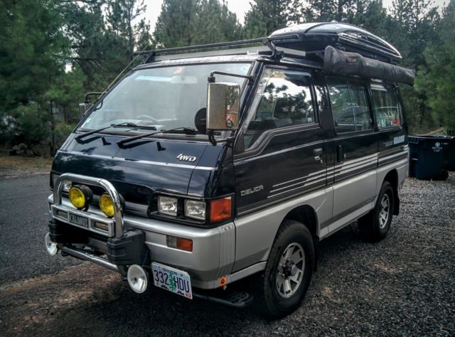 1986 mitsubishi delica l300 4x4 turbo diesel camper conversion van. Black Bedroom Furniture Sets. Home Design Ideas