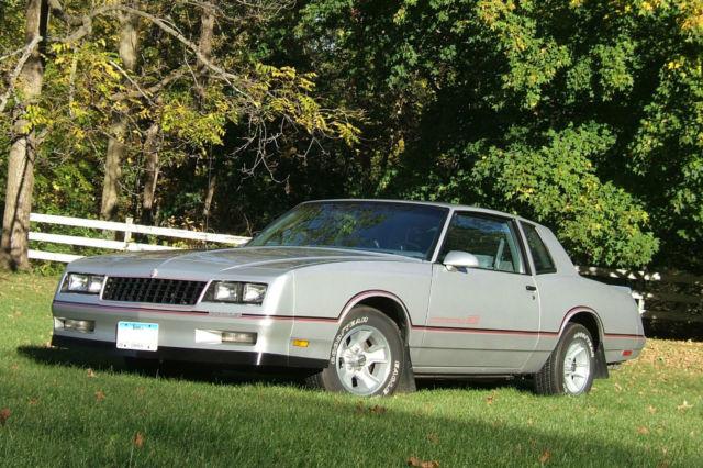 1986 monte carlo ss silver car with silver interior all original no rust l k. Black Bedroom Furniture Sets. Home Design Ideas