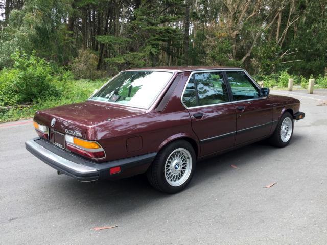1987 Bmw E28 528e