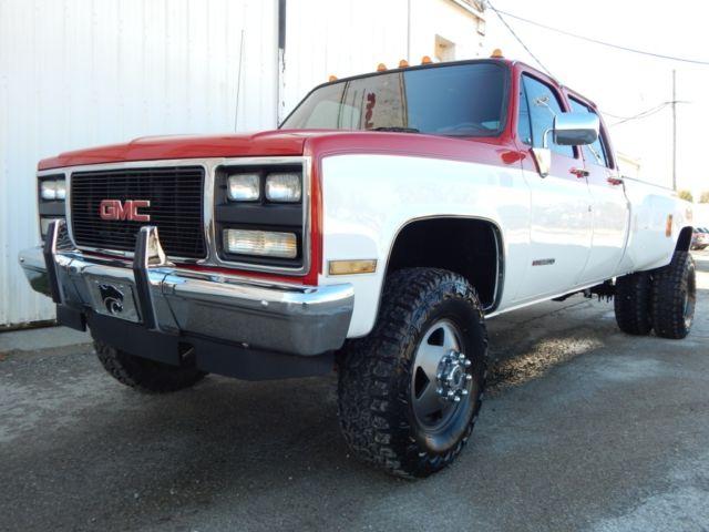 1987 chevrolet k30 silverado crew cab 454 big block rust free truck. Black Bedroom Furniture Sets. Home Design Ideas