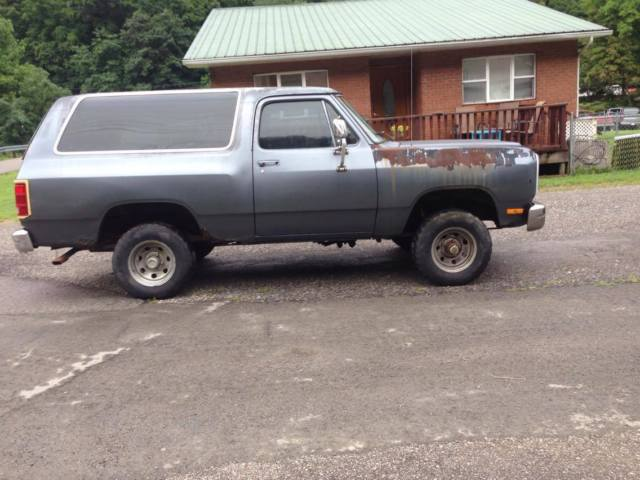 1987 Dodge Ramcharger 4x4 318 Automatic Parts Project Mud Truck Suv Restorable