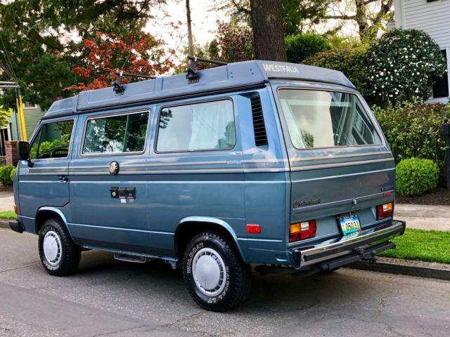 1987 Volkswagen Vanagon Westfalia Pop Top Camper Van Class B Kombi Eurovan Bus