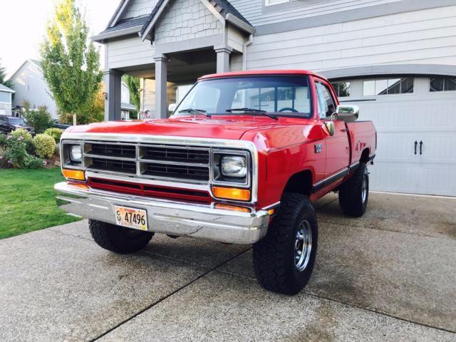 Duraliner Bed Liner >> 1988 Dodge Power Ram W100 - Power Wagon - 4x4 - Low Miles ...