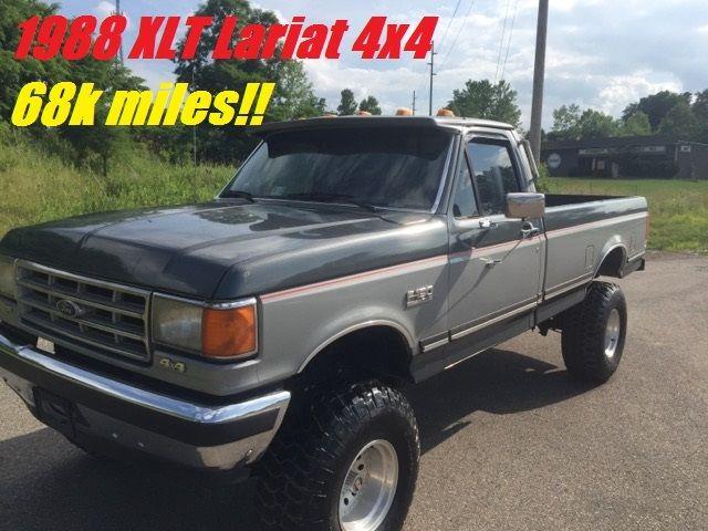 1988 ford f 150 xlt lariat 4x4 lifted w 35 tires 68k miles. Black Bedroom Furniture Sets. Home Design Ideas