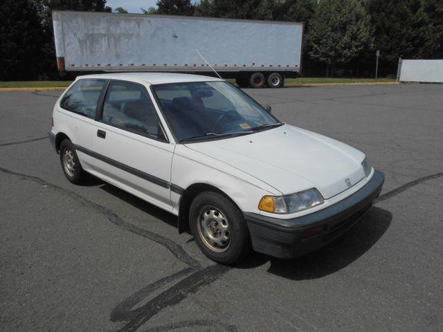 1988 honda civic dx 2 door hatchback 1 5l l4 sohc automatic only 85 762 miles. Black Bedroom Furniture Sets. Home Design Ideas
