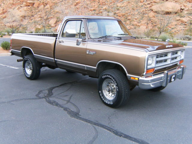 1989 dodge ram le 1st gen cummins 12 valve diesel 4x4 350 low miles. Black Bedroom Furniture Sets. Home Design Ideas