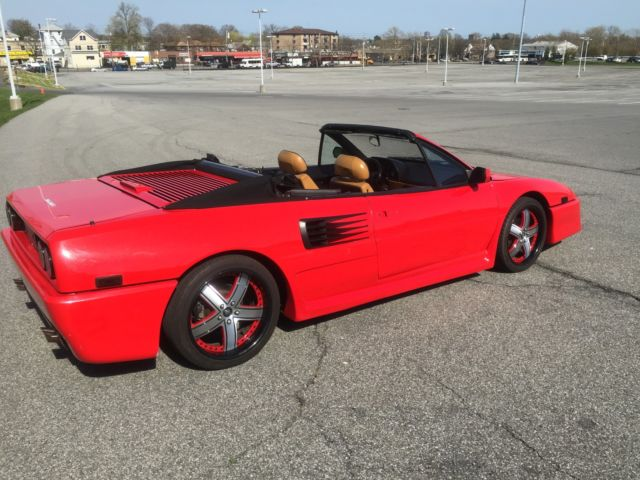 1989 ferrari mondial t cabriolet red black 5 speed fresh service. Black Bedroom Furniture Sets. Home Design Ideas