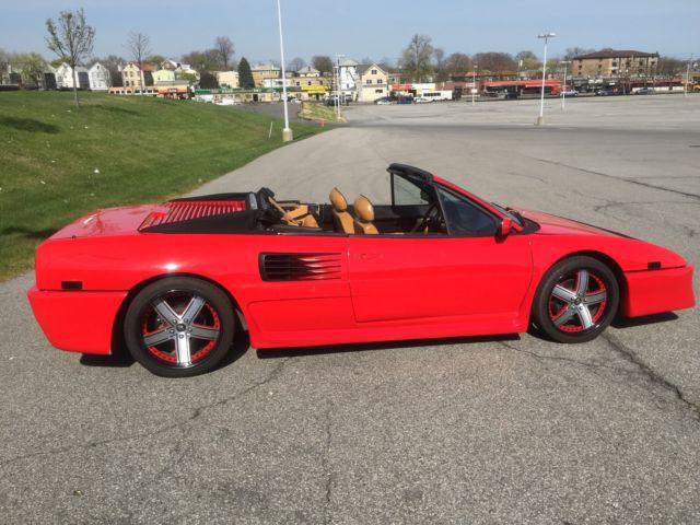 1989 ferrari mondial t cabriolet red black 5 speed fresh. Black Bedroom Furniture Sets. Home Design Ideas