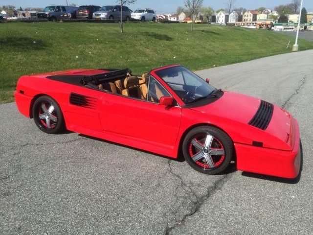 1989 ferrari mondial t cabriolet red black 5 speed fresh service. Black Bedroom Furniture Sets. Home Design Ideas