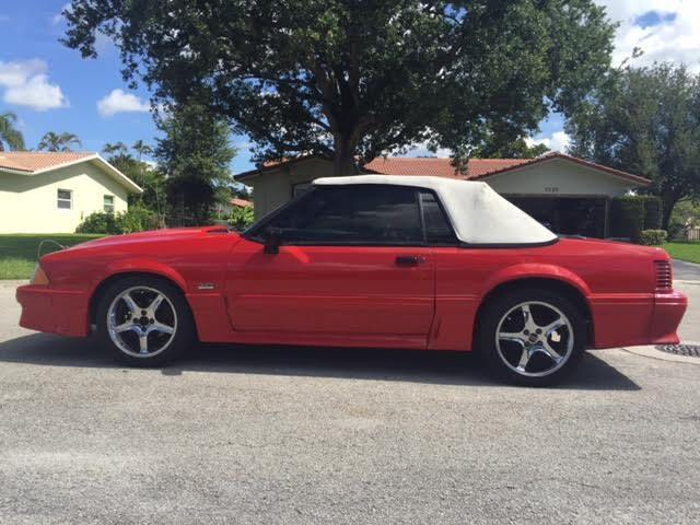1989 ford mustang gt convertible 5 0 foxbody 347 stroker afr heads fully built. Black Bedroom Furniture Sets. Home Design Ideas
