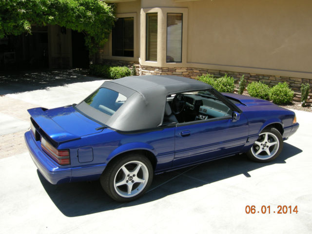 1989 ford mustang lx 5 0 convertible - sonic blue
