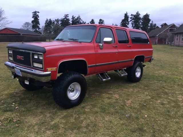 1989 gmc suburban v1500 sle lifted 4x4 92k mi rust free worldwide no reserve. Black Bedroom Furniture Sets. Home Design Ideas