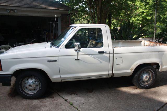 1990 ford ranger 80 00 original miles ac 4x2 5 speed shift. Black Bedroom Furniture Sets. Home Design Ideas