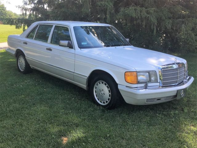1990 Mercedes 350sdl Turbo Diesel 350 Sdl Like New White