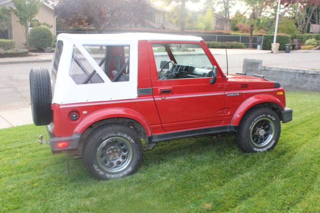 1990 Suzuki Samurai Jl Fuel Injected Low Low Miles All